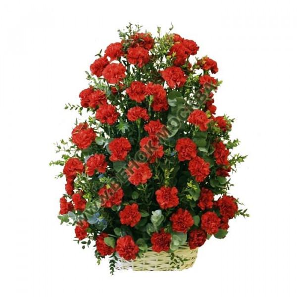корзина из живых цветов КРЖ-13