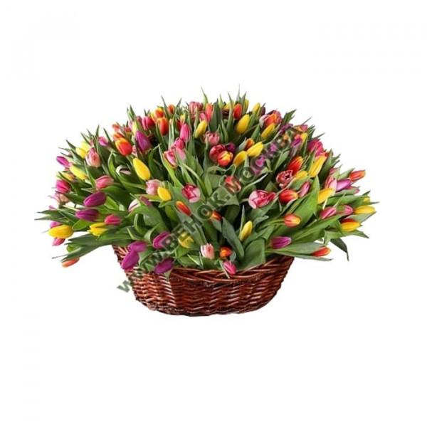 корзина из живых цветов КРЖ-14