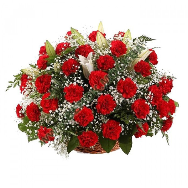 корзина из живых цветов КРЖ-16