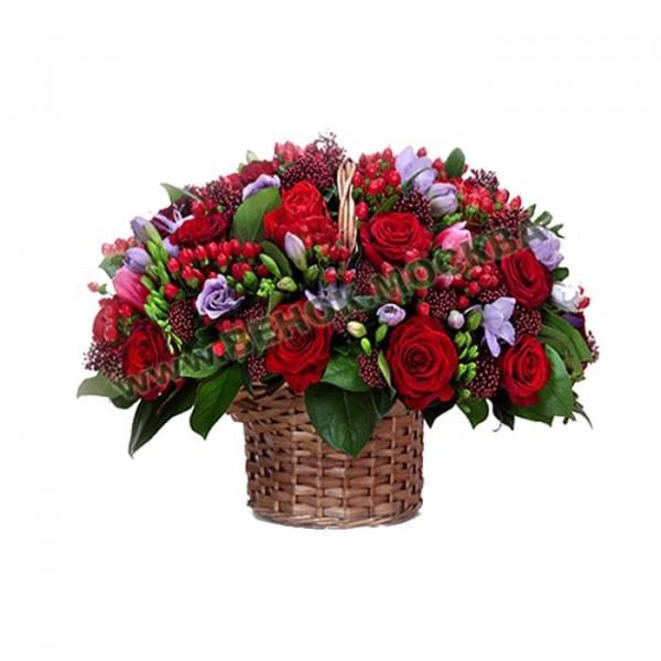 корзина из живых цветов КРЖ-19