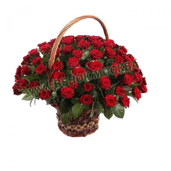 корзина из живых цветов КРЖ-20