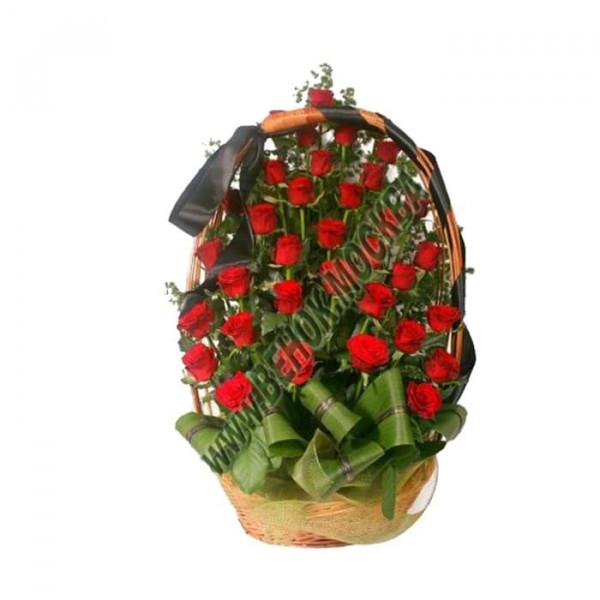 корзина из живых цветов КРЖ-21