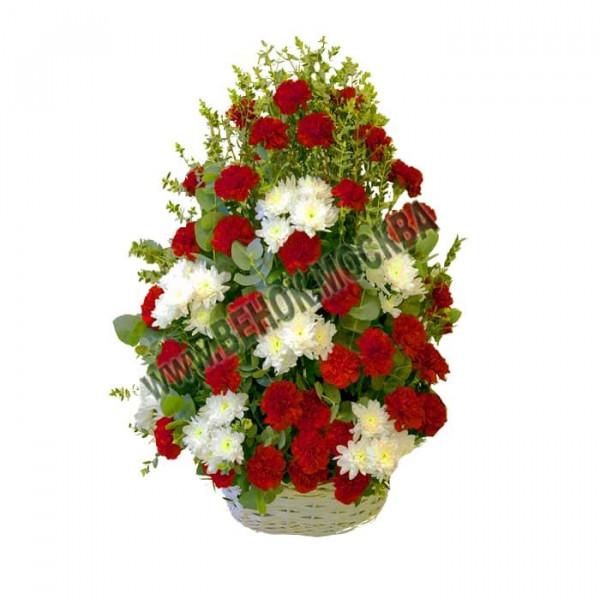 корзина из живых цветов КРЖ-22