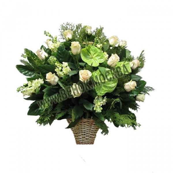 корзина из живых цветов КРЖ-23