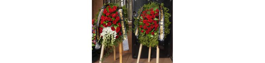 Купить недорогие венки из живых цветов