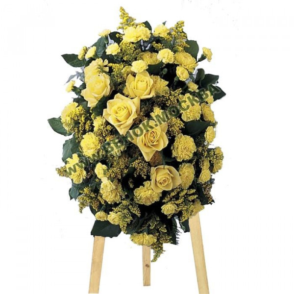 венок из живых цветов  ВЖ-С-11