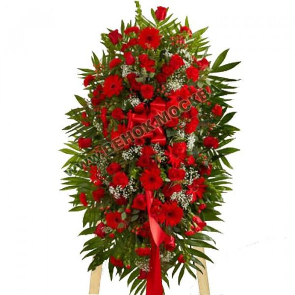 венок из живых цветов ВЖ-С-12