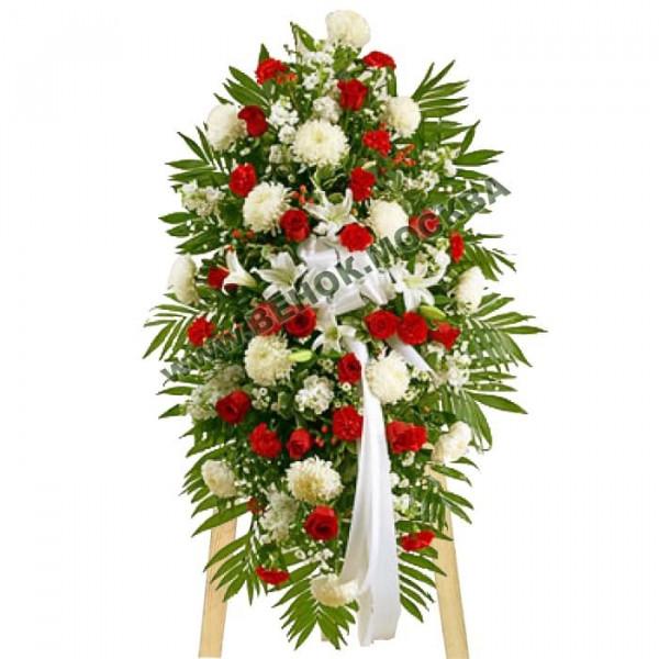 венок из живых цветов ВЖ-С-13