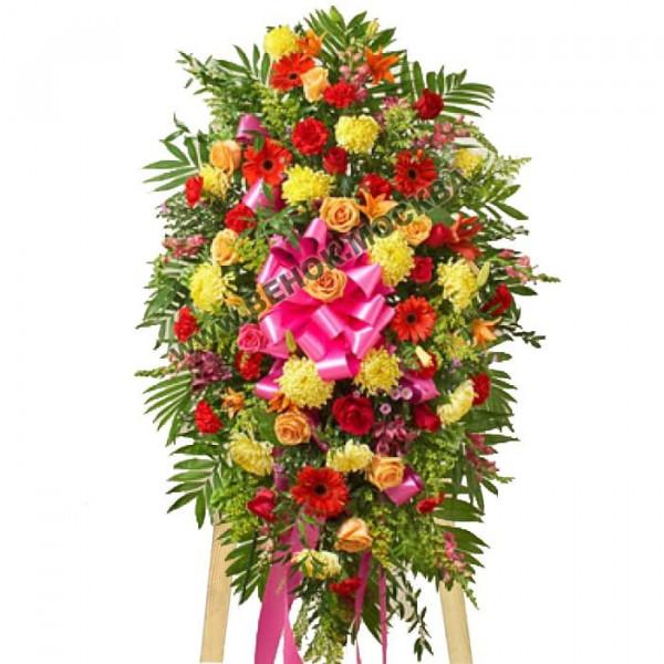 венок из живых цветов ВЖ-С-17