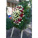 венок из живых цветов ВЖ-08