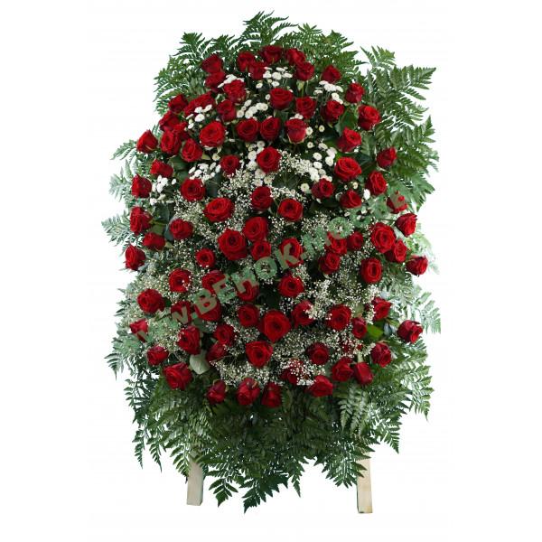 венок из живых цветов ВЖ-16
