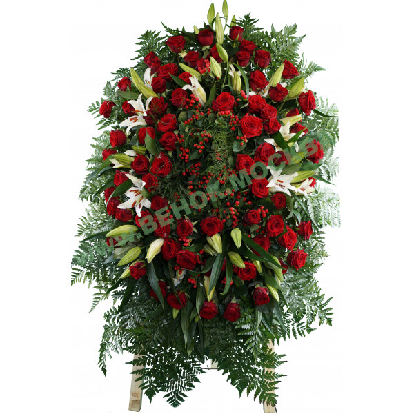 венок из живых цветов ВЖ-17