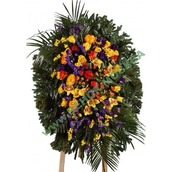 венок из живых цветов ВЖ-37