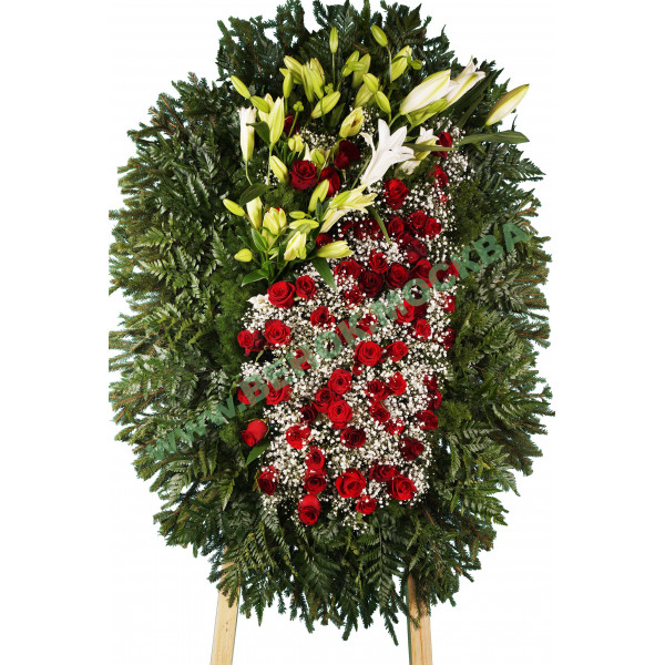 венок из живых цветов ВЖ-40