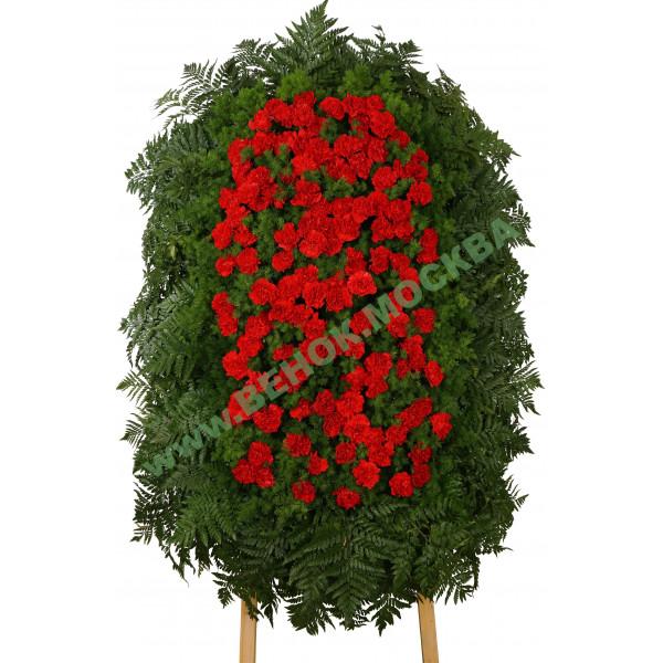 венок из живых цветов ВЖ-41
