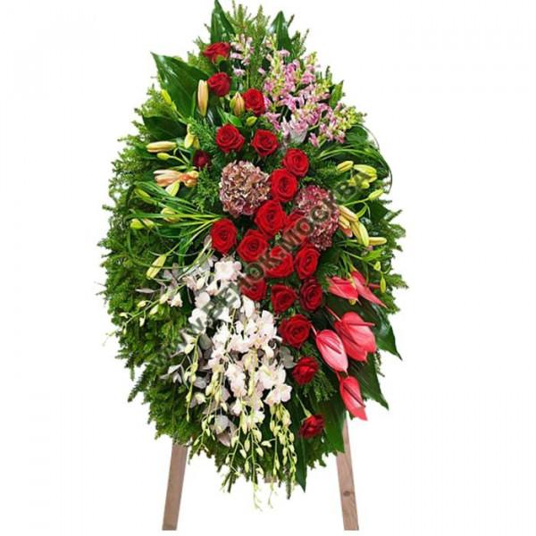 венок из живых цветов ВЖ-50