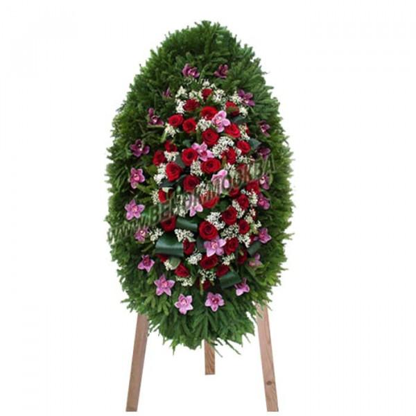 венок из живых цветов ВЖ-52