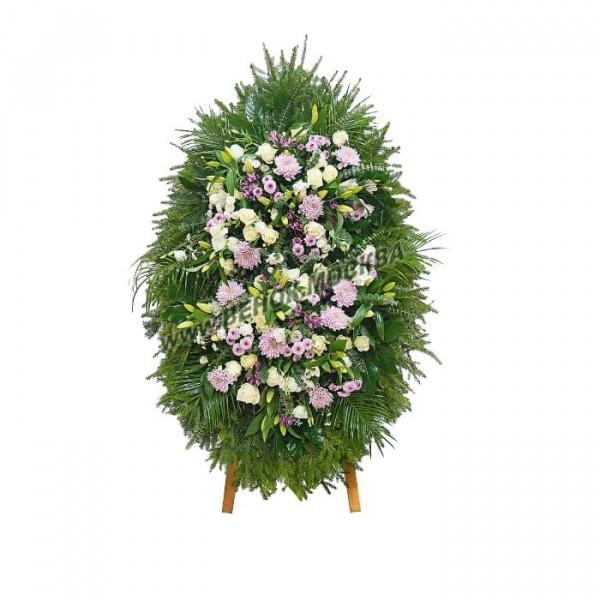 венок из живых цветов ВЖ-60
