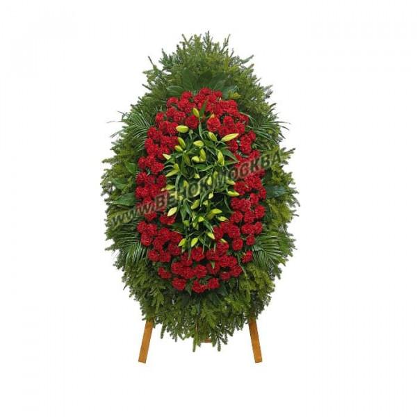 венок из живых цветов ВЖ-63