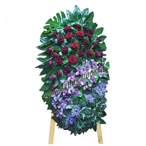 венок из живых цветов ВЖ-71