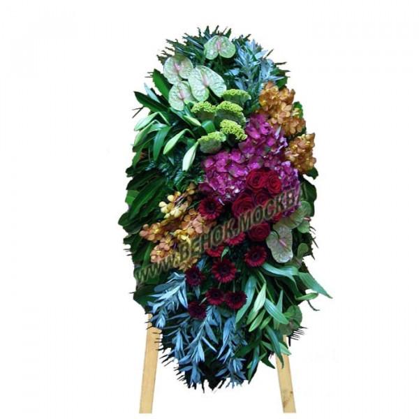 венок из живых цветов ВЖ-72