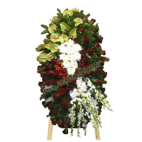 венок из живых цветов ВЖ-74