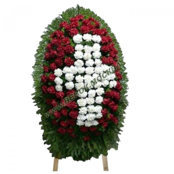 венок из живых цветов ВЖ-100