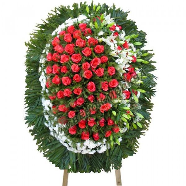 венок из живых цветов ВЖ-101