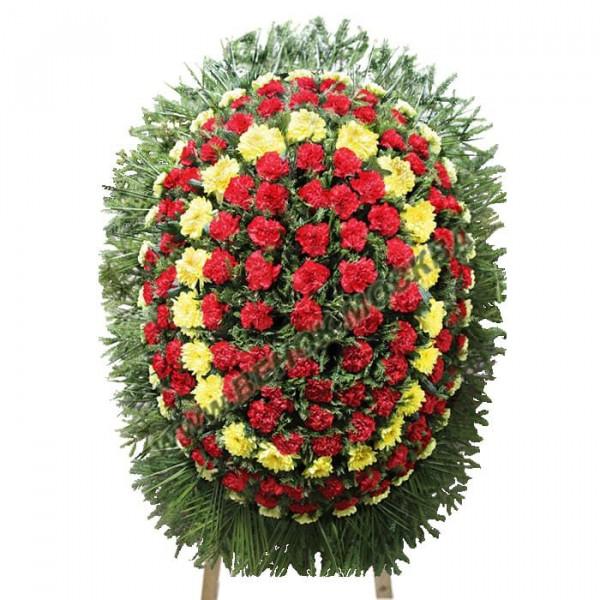 венок из живых цветов ВЖ-103