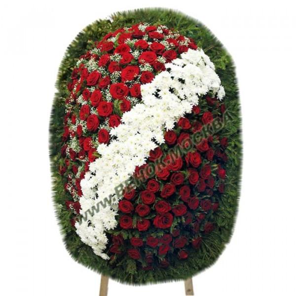 венок из живых цветов ВЖ-105