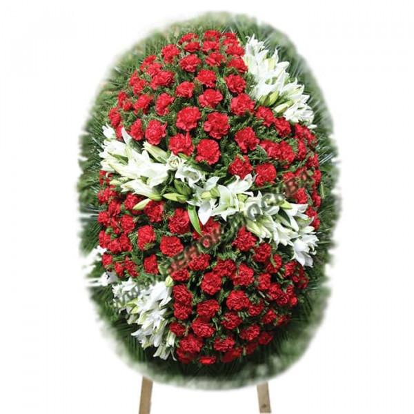 венок из живых цветов ВЖ-108