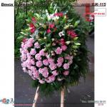 венок из  живых цветов КЛАССИЧЕСКИЙ ВЖ-115