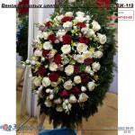 Венок из живых цветов ВЖ-119