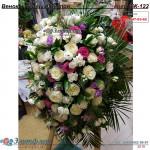 Венок из живых цветов ВЖ-122