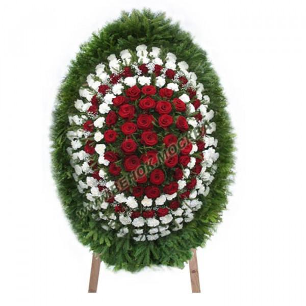 венок из живых цветов ВЖ-86
